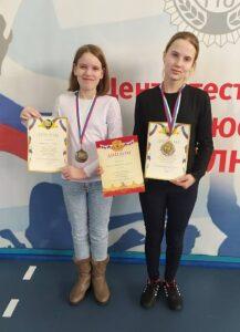 Зайнулина Мария-2 место в личном зачёте,Чащина Ксения -2 место в личном зачёте
